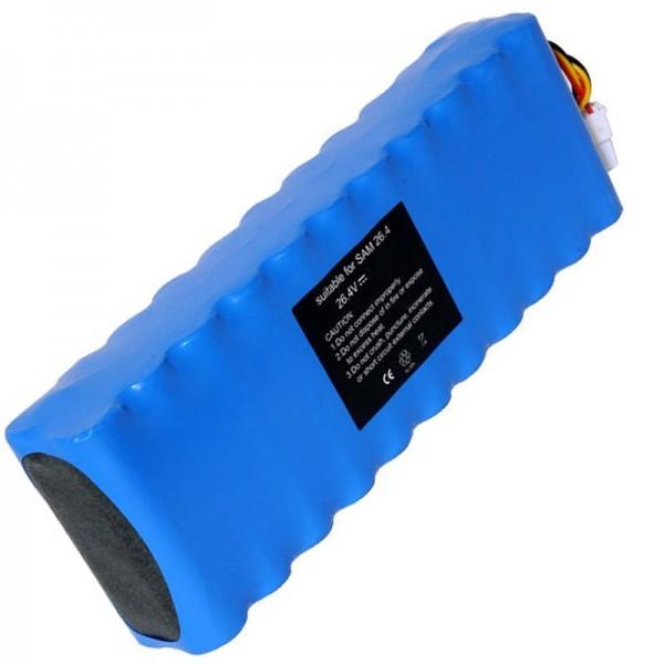 Batterie compatible pour Samsung Navibot VC-RS60, VC-RS60H, VC-RS62 Batterie DJ96-0079A, Ni-MH