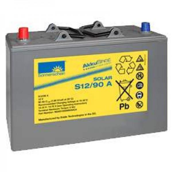Batterie pour batterie rechargeable Sonnenschein Solar S12 / 90A, 12Volts 90Ah