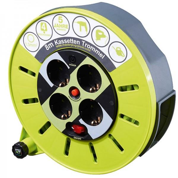 Boîte de câble avec une longueur de câble de 8 mètres et 4x contacts de protection avec verrouillage de sécurité pour enfants