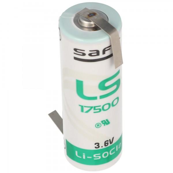 SAFT Batterie au lithium LS17500, taille A, avec cosse à souder en forme de Z