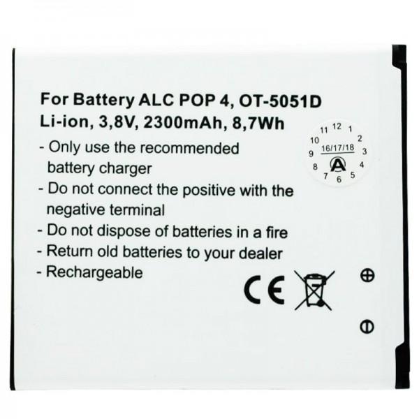 Batterie compatible pour Alcatel POP 4, OT-5051D TLP025H1