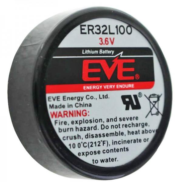 EVE ER32L100 Pile au lithium 1/6 D Mono 3,6 Volt 1700mAh, impression 3er, EVE ER32L100 1 / 6D 3.6V