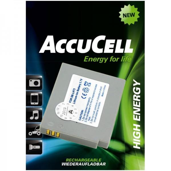 AccuCell batterie adapté pour Samsung SB-LH73 batterie pour batterie appareil photo numérique