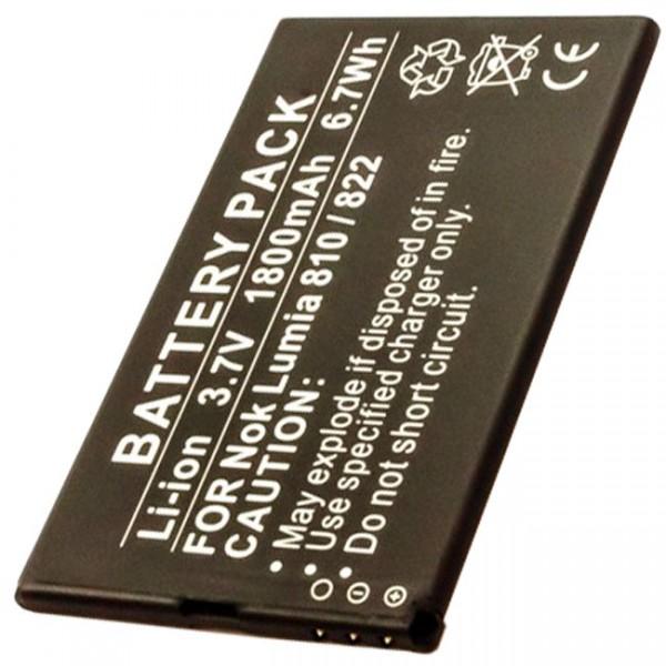 AccuCell batterie appropriée pour Nokia Lumia 810 822, batterie Nokia BP-4W
