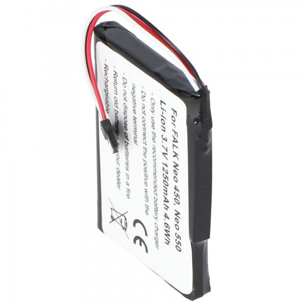 Batterie pour FALK Neo 450 batterie Neo 550 avec 3.7V et 1250mAh