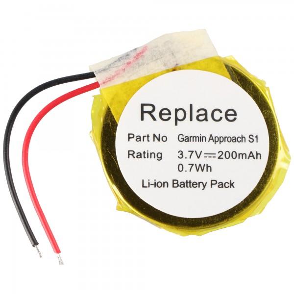 Batterie compatible pour Garmin Approach S1 GPS Golf montre Li-ion 361-00047-00