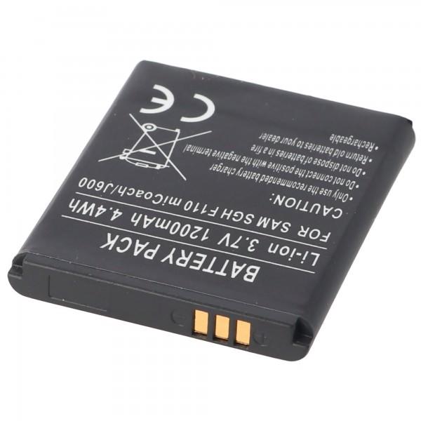 Batterie AccuCell adaptable sur Samsung SGH-J600, AB483640BECSTD