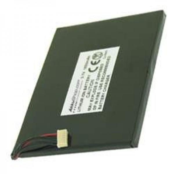 AccuCell batterie adaptée pour Asus MyPal A620U, 1500mAh