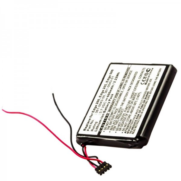 Batterie AccuCell adaptable sur Garmin Edge 200, Edge 205, Edge 500