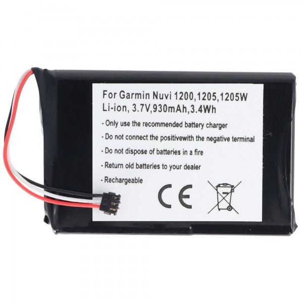 Batterie AccuCell adaptable sur Garmin Nuvi 1200, 361-00035-01
