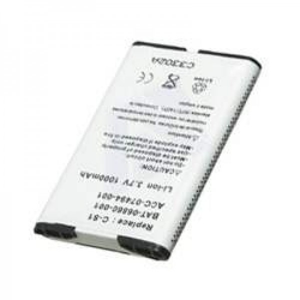 Batterie AccuCell pour RIM Blackberry 8707, 1000mAh