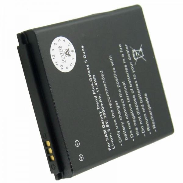 Batterie pour Samsung Galaxy ACE 2, GT-I8160 batterie 3000mAh seulement avec cache supplémentaire en blanc et bleu foncé