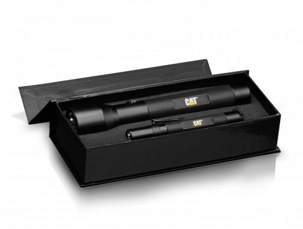 CAT CT123552P Set de 2 lampes de poche à LED avec 3W Cree LED dans une boîte cadeau