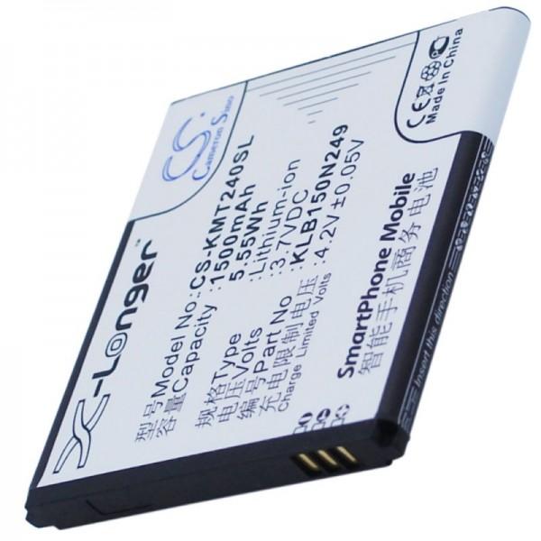 Batterie pour Kazam Trooper 2 4.0, KLB150N249 3.7 Volt 1500mAh