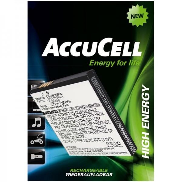 AccuCell batterie adapté pour LG Optimus 7, E900, C900, LGIP-690F