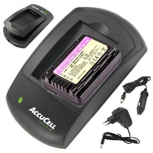 VW-VBT190 Batterie et chargeur de rechange, y compris câble de charge de 12 V pour la voiture, ne convient malheureusement pas aux modèles de caméscopes V727, HC-