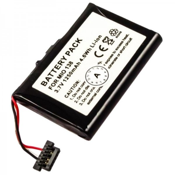 Batterie adapté pour Mitac Mio 138, Mio 268, Mio 269, Mio C 710