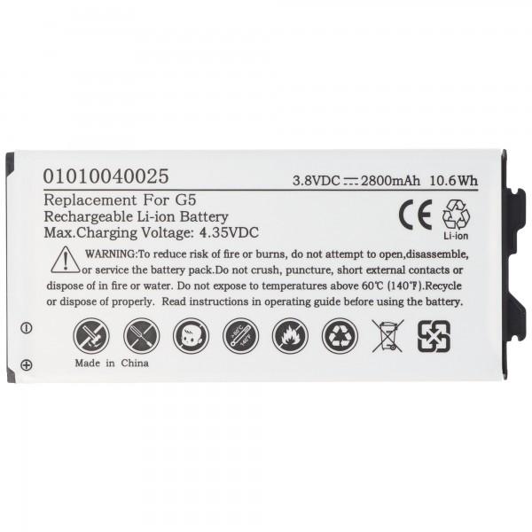 Batterie compatible avec la batterie LG G5 BL-42D1F, EAC63238902AAC