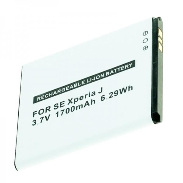 Batterie AccuCell pour téléphone mobile Sony Ericsson BA900, Xperia J, GX, T, TX 1700mAh