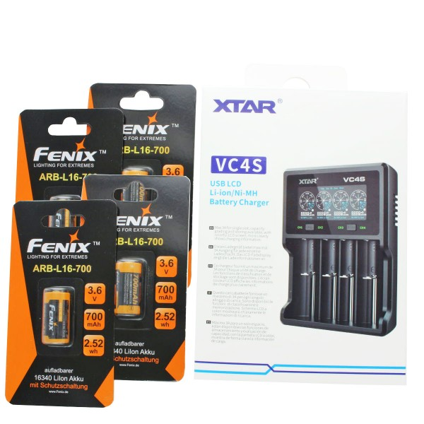 4 piles Arlo rechargeables, 3,7 V max. Batteries au lithium 760mAh et chargeur avec AccuCell Box, rechargeables, adaptés aux caméras Netgear Arlo VMC3030, 3230, 3330, 3430 et
