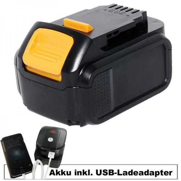 Adaptateur de charge de batterie et USB adaptable sur batterie Dewalt DCB140, DCB141-XJ, DCB143-XJ, DCB145