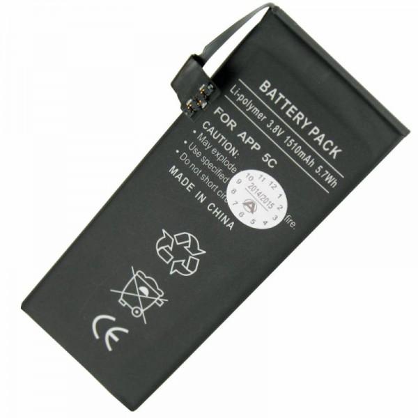 Batterie pour Apple iPhone 5C Li-Polymer 616-0667, batterie 616-0720