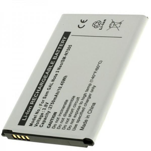 Batterie Samsung SM-N7505 Galaxy Note 3 Neo en réplique de la batterie AccuCell