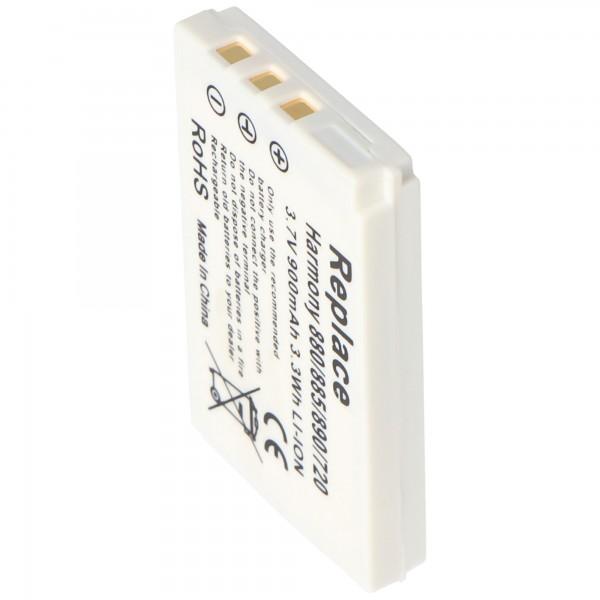 Batterie compatible pour Logitech Harmony 900, 880, 885, 890, 720 batterie 900mAh