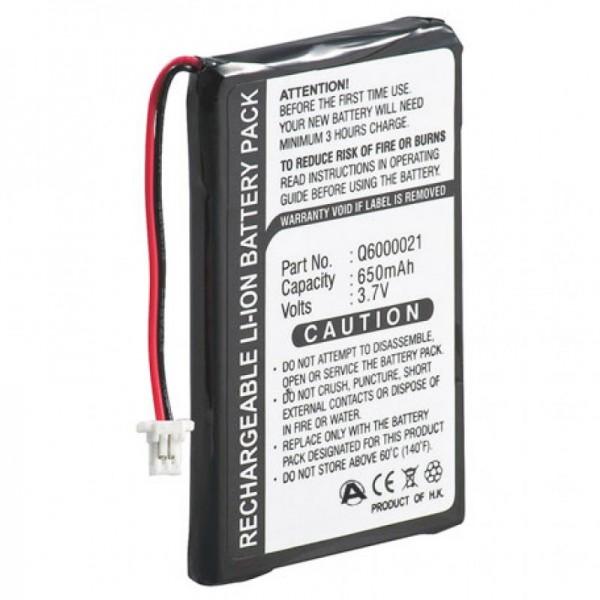 Batterie compatible avec TomTom GPS-9821X, Q6000021, 550mAh