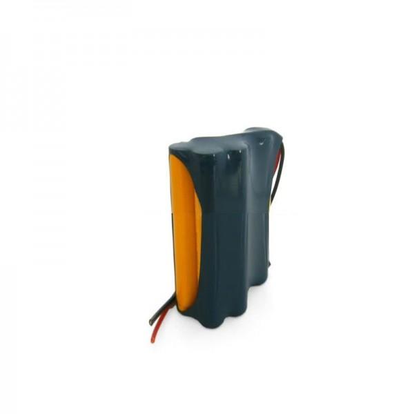 Batterie de remplacement en tant que batterie de rechange pour Pack de batteries NiCD 14,4V Geze avec câble