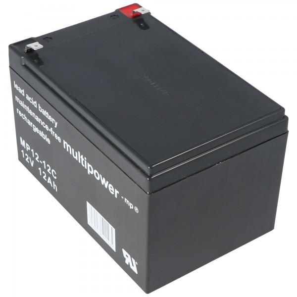 Batterie au plomb Multipower MP12-12C 12 volts, cycle, 12Ah