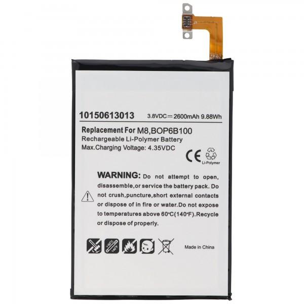 AccuCell batterie convient pour la batterie HTC One M8 35H00214-00M, 35H00214-01M, B0P6B100, BOP6B100, M8S