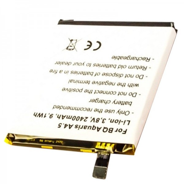 Batterie compatible avec BQ Aquaris A4.5, Aquaris A4.5 4G, Aquaris M4.5, Aquaris M4.5 4G 2470