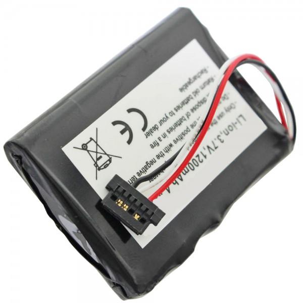 AccuCell batterie adapté pour Mitac Mio P350, P550, BP-LP1230