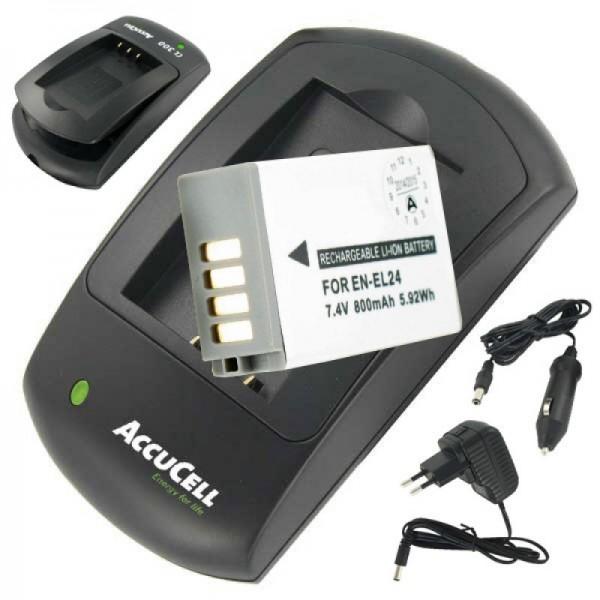 Batterie et chargeur adaptés à la batterie EN-EL24 pour Nikon 1 J5 prix économique