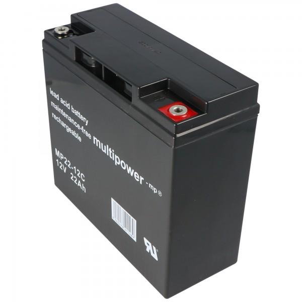 Yuasa YPC22-12 batterie au plomb avec 12 volts et 22Ah