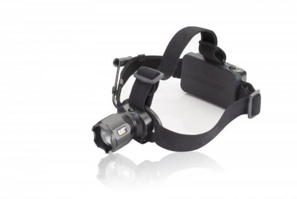 Lampe frontale focalisable à piles CAT CT4205 avec câble de charge USB 380 lumens