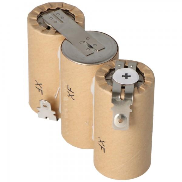 Batterie pour Gardena ACCU60 avec Faston 6.3 et 4.8mm, 2500mAh