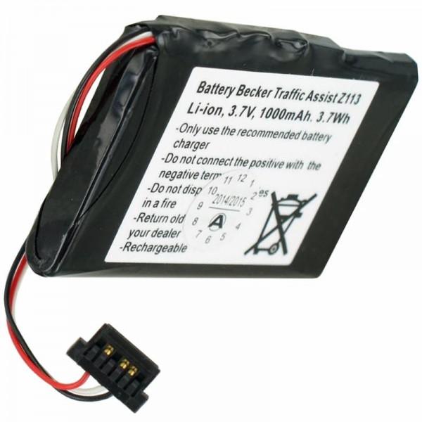 Batterie pour Becker Z113 Batterie pour Traffic Assist Z113 SJM120