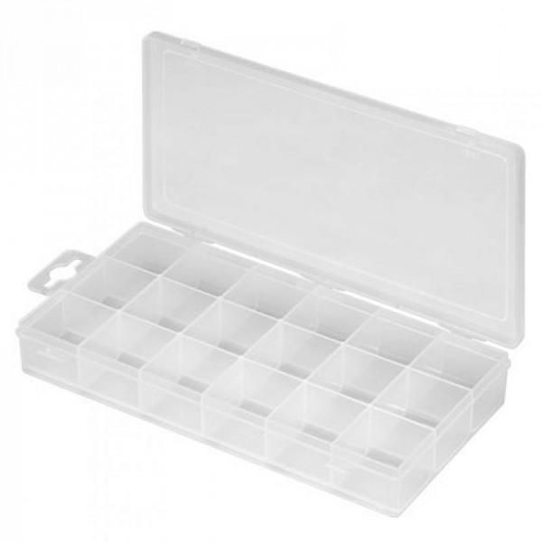Boîte de rangement en plastique à 18 compartiments