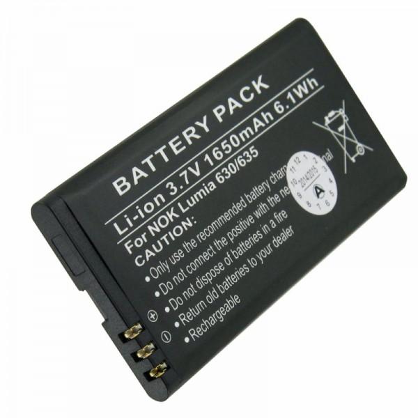 Batterie pour Nokia Lumia 630, Lumia 635, BL-5H avec 1650mAh