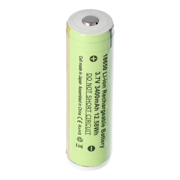 Batterie Li-ion Panasonic 18650 avec 3400mAh et circuit de protection, environ 68 x 18mm