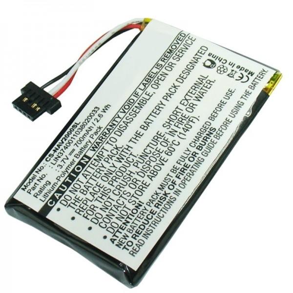 Navigon 20 Easy, 20 Plus batterie en tant que batterie remplaçable de la batterie AccuCell LIN3740011038020033