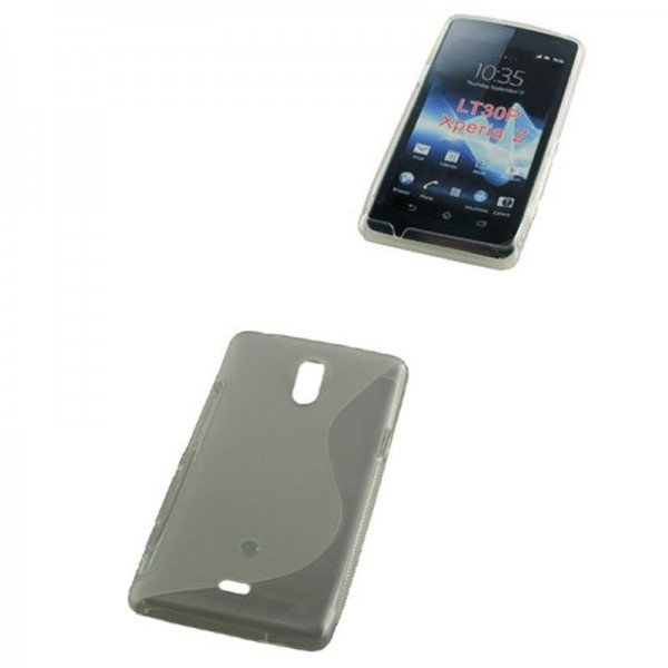 Housse TPU compatible avec Sony Xperia Z S-Curve transparente
