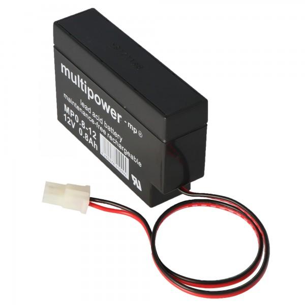 Batterie au plomb Fiamm FG20086 avec prise AMP 800mAh