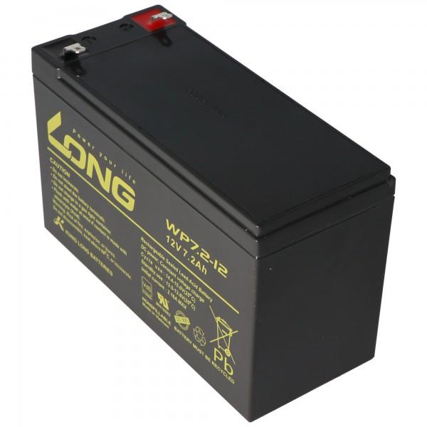 Kung Long WP7.2-12M, VDS G101163, 12V, 7.2Ah, avec contacts à fiche Faston 4,8 mm