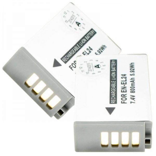 Batterie pour Nikon EN-EL24 Batterie EN-EL24 pour Nikon 1 J5
