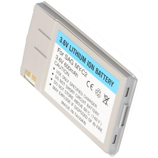 AccuCell batterie adaptée pour Sagem myC-2, argent 600mAh
