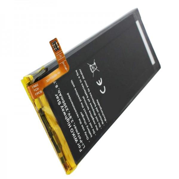 Batterie compatible avec la batterie Wiko Highway Star, batterie double carte Highway Star 4G TLP15016