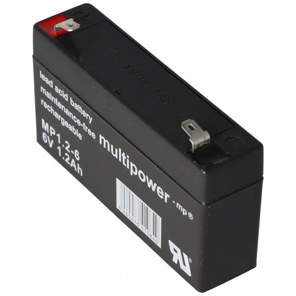 Câble PB pour batterie multipoint MP1.2-6, 6 V 1200 mAh, connexion 4,8